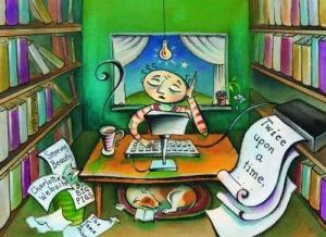 artsy-writer-working